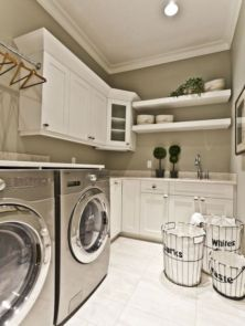 Stylish cabinets for laundry room 35