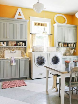 Stylish cabinets for laundry room 38