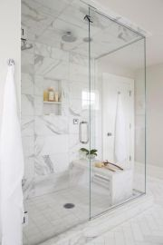 Awesome farmhouse shower tiles ideas 02