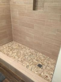 Awesome farmhouse shower tiles ideas 04
