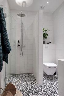 Awesome farmhouse shower tiles ideas 07