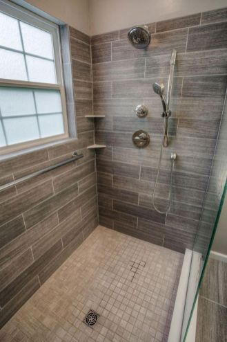 Awesome farmhouse shower tiles ideas 08