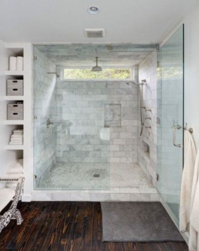 Awesome farmhouse shower tiles ideas 09