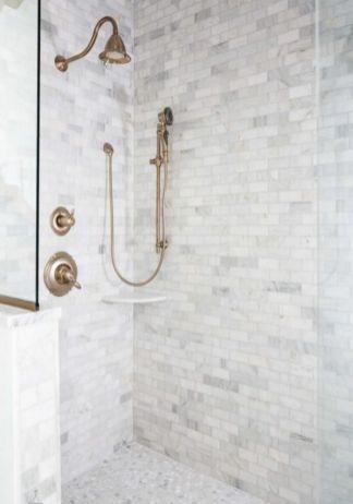 Awesome farmhouse shower tiles ideas 12