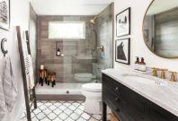Awesome farmhouse shower tiles ideas 15