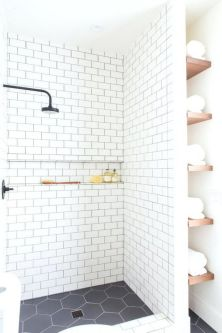 Awesome farmhouse shower tiles ideas 24