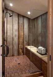Awesome farmhouse shower tiles ideas 27