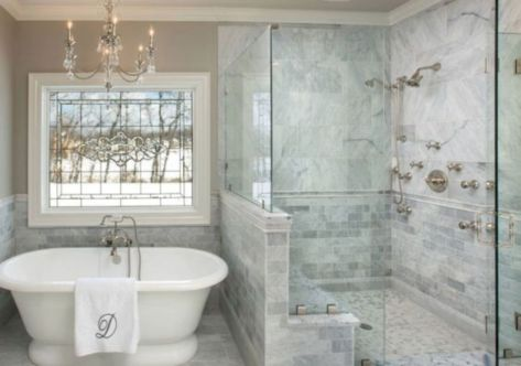 Awesome farmhouse shower tiles ideas 40