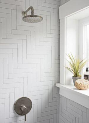 Awesome farmhouse shower tiles ideas 41