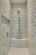 Awesome farmhouse shower tiles ideas 45