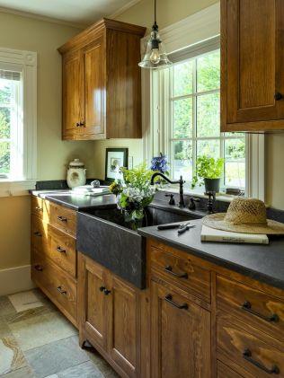 Brilliant rustic farmhouse kitchen cabinets remodel ideas 09