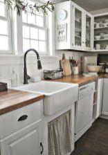 Brilliant rustic farmhouse kitchen cabinets remodel ideas 24