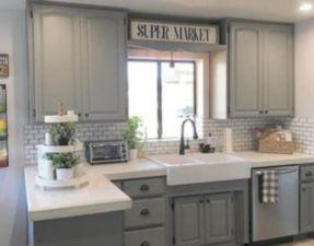 Brilliant rustic farmhouse kitchen cabinets remodel ideas 39