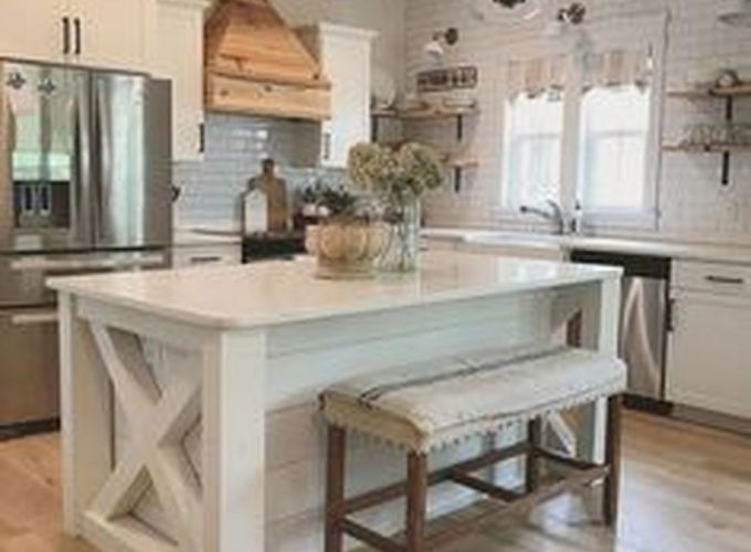 Brilliant rustic farmhouse kitchen cabinets remodel ideas 40