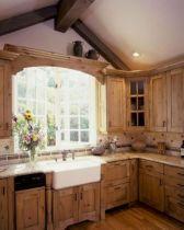 Brilliant rustic farmhouse kitchen cabinets remodel ideas 42