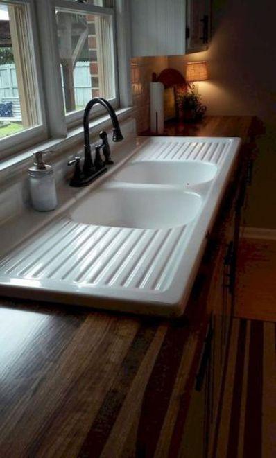 Cool farmhouse kitchen sink remodel ideas 04