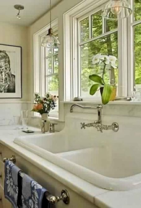 Cool farmhouse kitchen sink remodel ideas 10