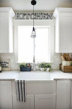 Cool farmhouse kitchen sink remodel ideas 25
