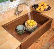 Cool farmhouse kitchen sink remodel ideas 36