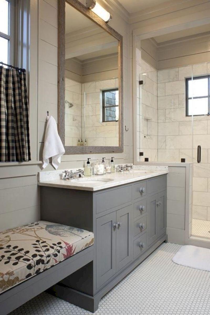 Cozy farmhouse bathroom makeover ideas 03