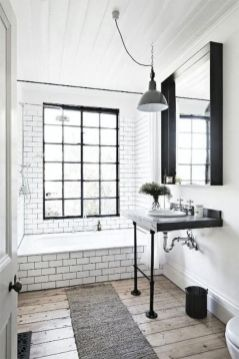 Cozy farmhouse bathroom makeover ideas 06