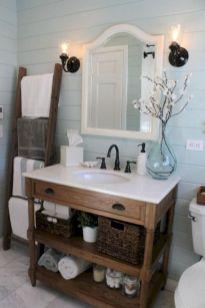 Cozy farmhouse bathroom makeover ideas 22