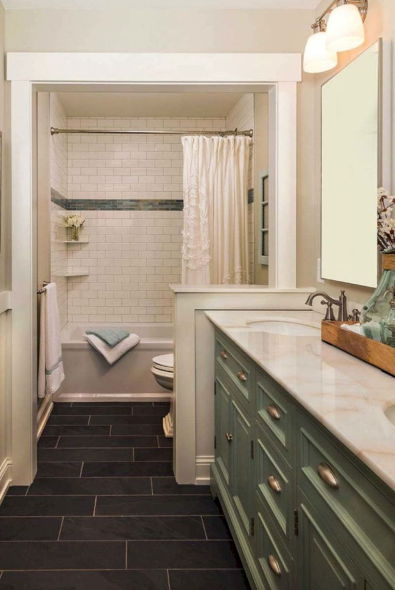 Cozy farmhouse bathroom makeover ideas 24