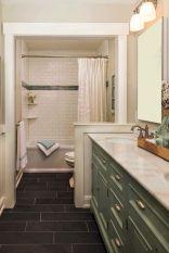 Cozy farmhouse bathroom makeover ideas 24