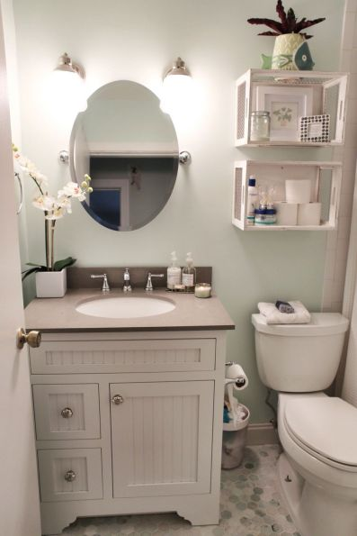 Creative diy bathroom makeover ideas 45