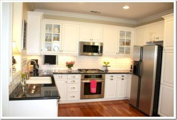 Cute kitchen remodels with white cabinets 36