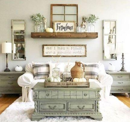 Fabulous farmhouse living room decor design ideas 07