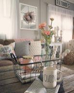 Fabulous farmhouse living room decor design ideas 12