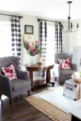 Fabulous farmhouse living room decor design ideas 20