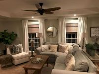 Fabulous farmhouse living room decor design ideas 25