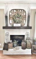 Fabulous farmhouse living room decor design ideas 27