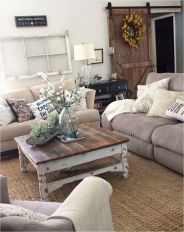 Fabulous farmhouse living room decor design ideas 30