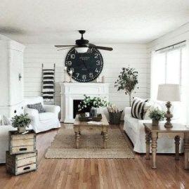 Fabulous farmhouse living room decor design ideas 31