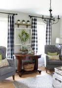 Fabulous farmhouse living room decor design ideas 37