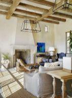 Fabulous farmhouse living room decor design ideas 43