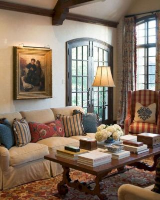 Gorgeous farmhouse living room decor design ideas 12