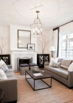 Gorgeous farmhouse living room decor design ideas 25