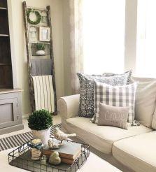 Gorgeous farmhouse living room decor design ideas 39