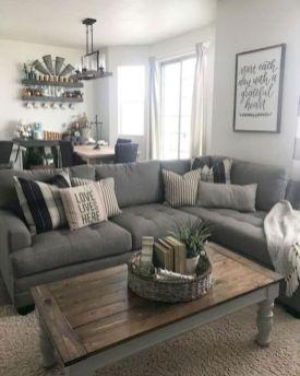 Gorgeous farmhouse living room decor design ideas 50
