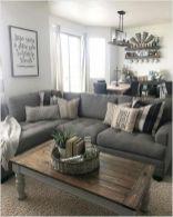Gorgeous farmhouse living room decor design ideas 52