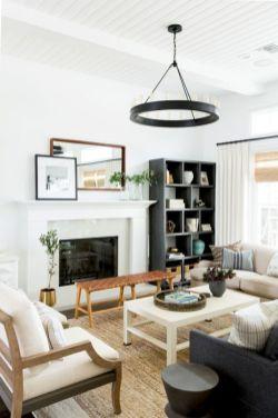 Gorgeous farmhouse living room decor design ideas 54