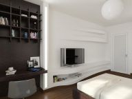 Gorgeous minimalist elegant white themed bedroom ideas 02