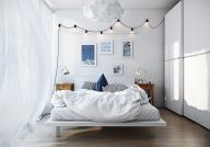 Gorgeous minimalist elegant white themed bedroom ideas 03
