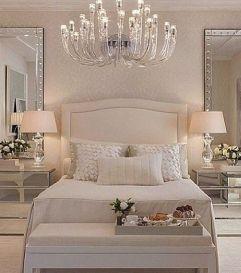 Gorgeous minimalist elegant white themed bedroom ideas 09