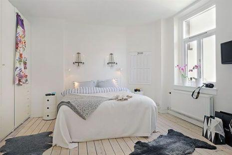 Gorgeous minimalist elegant white themed bedroom ideas 15