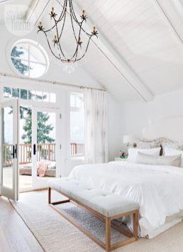 Gorgeous minimalist elegant white themed bedroom ideas 23